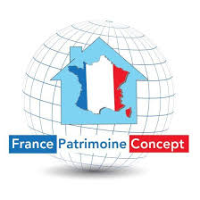 Frankrike Patrimoine Concept logo